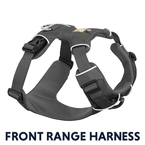 RUFFWEAR - Front Range Dog Harness, Reflective and Padded Harness for Training and Everyday, Twilight Gray (2017), Small