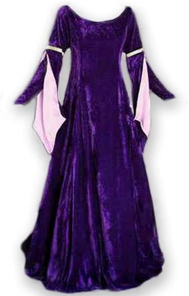 Artemisia Designs Medieval Velvet Dress Lined Ranking TOP2 with Tip Fashionable Satin Arm