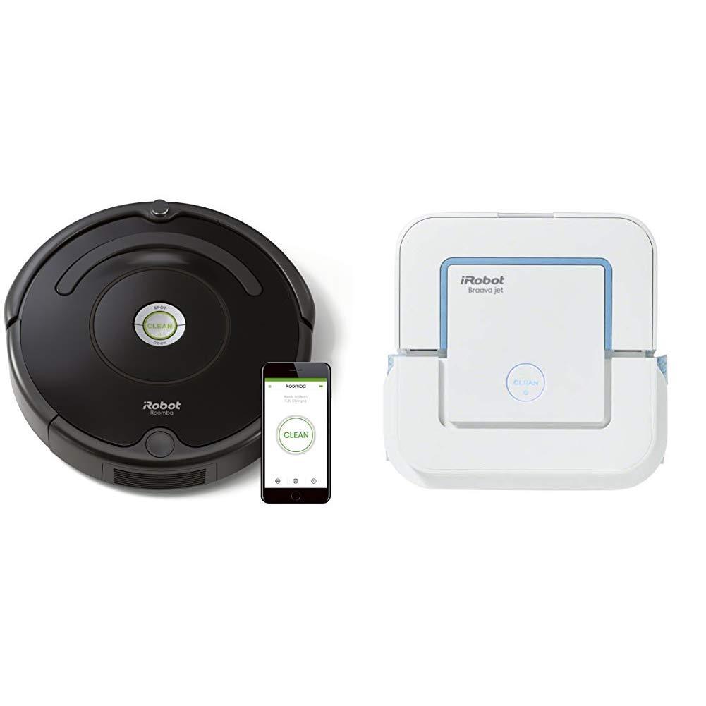 iRobot - Set con Roomba 671 Robot Aspirador para Suelos Duros y ...