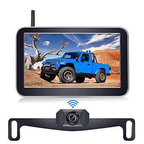 DoHonest Digital Wireless Backup Camera Kit with 7 Inch HD 1080P Monitor Stable Digital Signal Rear View Camera for Cars Pickups Trucks Campers - V29