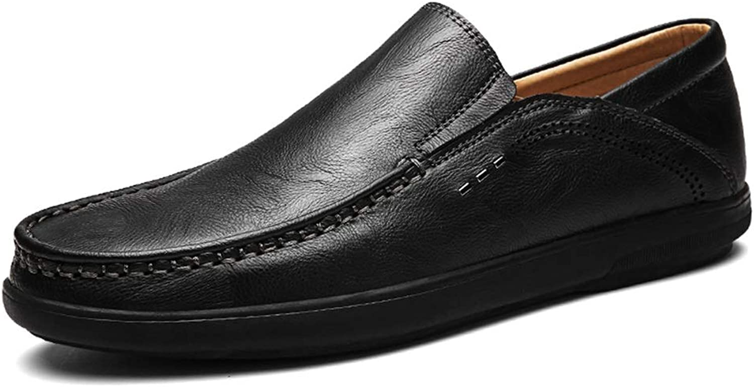 Easy Go Shopping Driving Loafer for Men Boat Moccasins Slip On Style PU Leather Elastic Design Low Top Solid color Cricket shoes