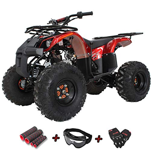 X-Pro 125cc ATV Quad Adults ATV 4 Wheelers Youth 4 Wheeler ATVs Hawk 125cc Big Boys ATVs Quads with Gloves, Goggle and Handgrip