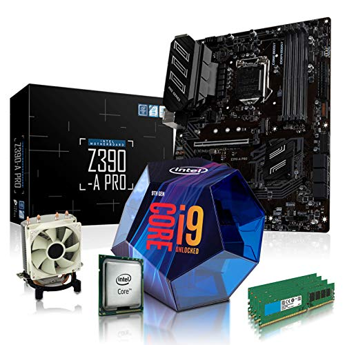 dcl24.de PC Aufrüstkit [12481] Intel i9-9900KF 8x3.6 GHz - 32GB DDR4, Z390-A Mainboard Bundle Kit, ohne onBoard Grafik, eigenständige Grafikkarte notwendig