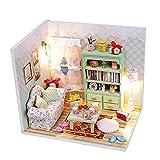 WANGCHAO Mini Kit de la casa de muñecas, casa de muñecas de Madera DIY Mini, con Kit de música a Prueba de Polvo y música, Adecuado para el día de San Valentín niños y niñas