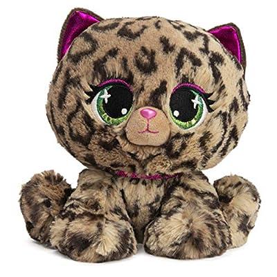 "GUND P.Lushes Designer Fashion Pets Sadie Spotson Leopard Premium Stuffed Animal, Black and Pink, 6"" by Spin Master"
