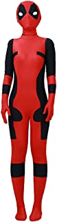 Boy's Costume Superhero Cosplay Suit Lycra Jumpsuit with Mask Red and Black