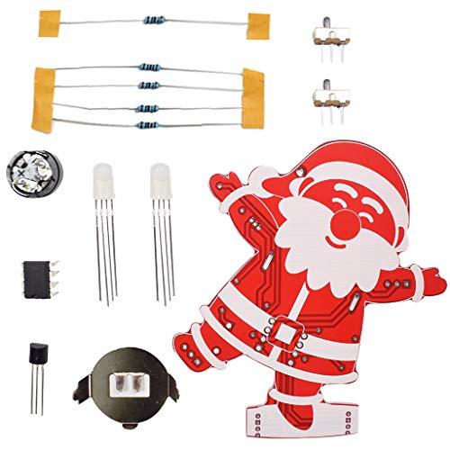 Tensay Diy weihnachtsmann weihnachtsbaum dekoration anhänger musik kit led elektronische kits hause schlafzimmer hängen ornament (zwei cr2032 münzzellenbatterien, nicht enthalten)