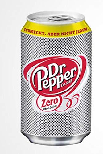 24 Dosen Dr Pepper Zero (ohne Zucker) a 0,33l inc. 6.00€ EINWEG Pfand