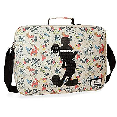 Disney True Original - Mochila escolar, 38 cm, 7.45 litros, Multicolor de Disney