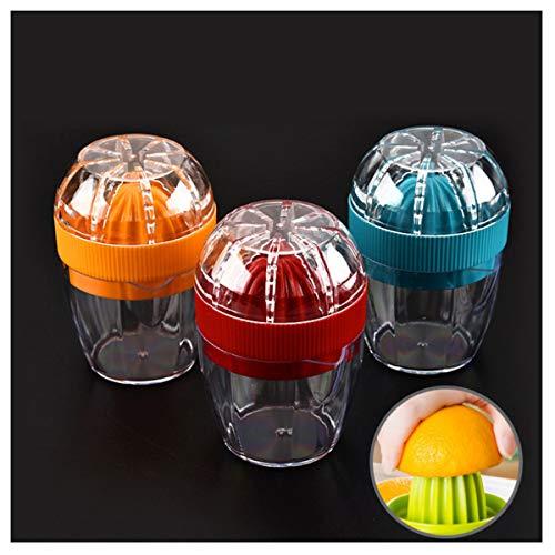 Dancepandas Exprimidor de Limón 3PCS Exprimidor de Cítricos Manual Exprimidor de Naranjas Exprimidor de Limas con Recipiente (Naranja rojo azul)