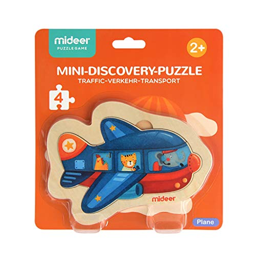 Puzzles Spielzeug Aufklärung Embedded Kinder Auto aus Holz for Kinder Großes Babyspielzeug 2 Jahre alt Brainteaser (Color : Aircraft)