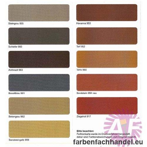 Pufas Dachfarbe und Sockelfarbe 5 Liter Ziegelrot 917