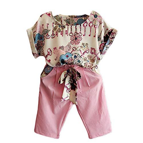 SAMGU Bébés Enfants T-Shirt À Manches Courtes Tops Pantalon Filles Tenue Fille Vêtements Tout-Petits Bébé Vêtements D'Été Ensemble