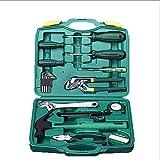 SSCYHT Juego de Herramientas de reparación básica para el hogar con Estuche de plástico para Caja de Herramientas (Juego de Herramientas para el hogar, la Oficina o el automóvil)
