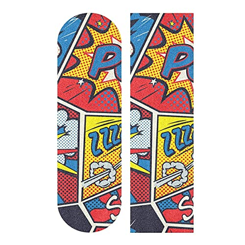Buntes Pop Art Retro Comic Skateboard Griptape, Longboard Griptape, Scooter Griptape, Schleifpapier für Rollbrett, Treppen, Pedal, Rollstuhl, Stufe, 1 Blatt