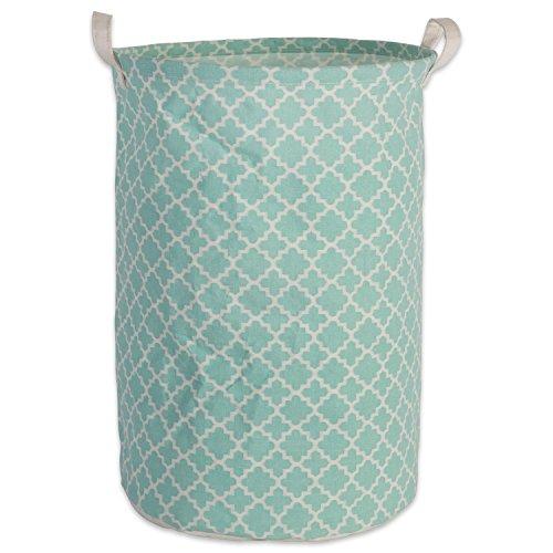 DII Cesto de lavanderia sortido revestido de polietileno de algodão/poliéster, tecido aquático