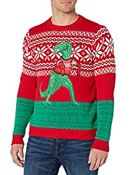 Blizzard Bay Cute Dinosaur Covering His Arms Men's Ugly Christmas Sweater