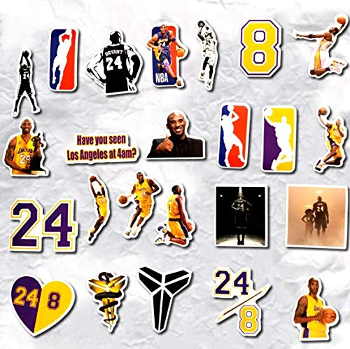 Reminiscence Of The Lakers Black Mamba Kobe Luggage Souvenir Stickers Notebook Computer Mobile Phone Case Waterproof Stickers 24 Pcs