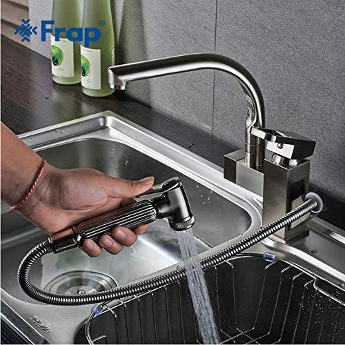 LLLYZZ keuken armaturen uittrekken douche sprayer deck monteren wasbak schip keuken wastafel waterkraan dubbele uitloop voor keuken mengbatterijen