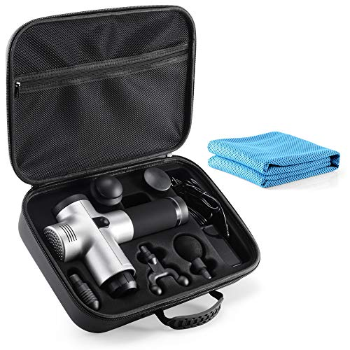 Carrying Case for Hyperice Hypervolt Bluetooth, 2021 5 Attachment Slots Portable Storage Box, Hard Shell Case for Hyperice Hypervolt Portable Massage Gun tombert (Case Only)