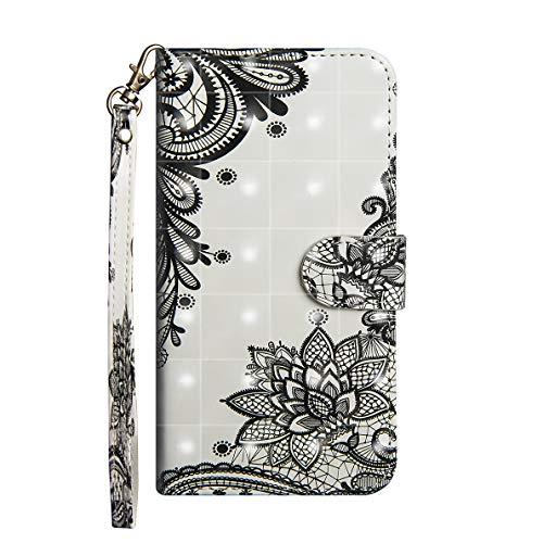 Sony Xperia L2 Hülle, SHUYIT 3D PU Leder Tasche Filp Wallet Hülle Book Type Gemalt Handyhülle Schutzhülle für Sony Xperia L2 Etui Brieftasche Cover Lederhülle