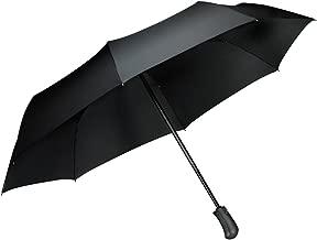 Parapluie pliant coupe-vent, Tquens Compact et pliable avec 41 Inch canopy extra large, [One Hand Auto Open & Close] Parapluie solide pour voyage, golf, pluie forte - Noir (000EH20660)