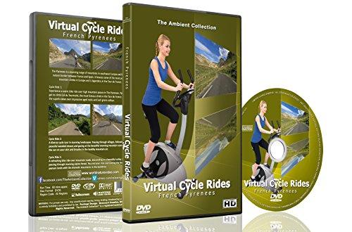 Virtuelle Fahrradstrecken – Französische Pyrenäen – Für Indoor Radfahren, Laufband und Laufworkouts