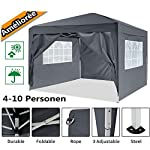 Oppikle 3x3m /3x6m Garden Gazebo Marquee Tent with Side Panels, Fully Waterproof, Powder Coated Steel Frame for Outdoor… 2