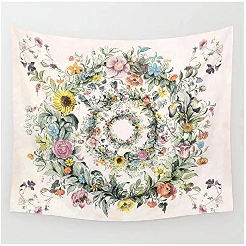 QJIAHQ Life Tapiz Floral Tapiz Colgante de Pared Colcha decoración de la Pared de la habitación diseño de la cabecera decoración de la habitación-150 * 200cm