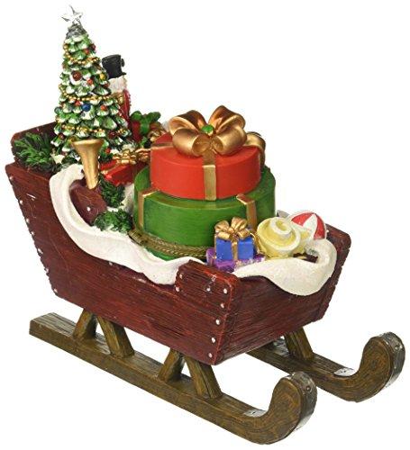Amusements LED Action Santa's Sleight gevuld met geschenken, een boom en een notenkraker Muziek