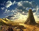 ChuYuszb Puzzle 1000 Piezas Paisaje Rompecabezas Torre de Babel fantasía Rompecabezas para niños Adultos Juego Creativo Rompecabezas