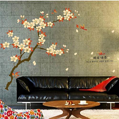 Wandaufkleber Wohnzimmer C Schöner rosa Blumenbaum für Kinder Schönes Vogelhaus 60x90cm Wohnzimmer Schlafzimmer Entfernbare