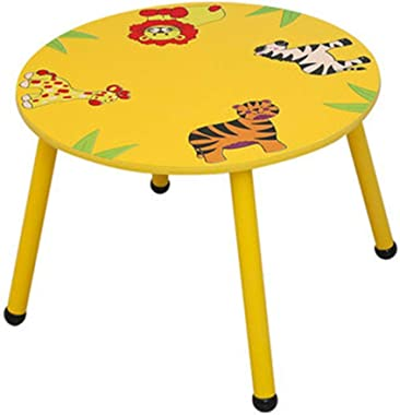 PUEEPDEE Childrens Table Toddler Table Children's Desk Table for Preschoolers Boys and Girls Activity Build & Play Table Kids