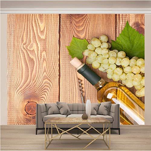 LucaSng 3D fotobehang - Modern stijlvol fles fruit - Non-Woven Premium Art Print Fleece Wand Mural Decoration Poster Picture Design Modern