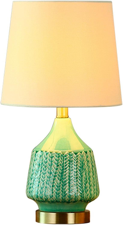 Tisch- & Nachttischlampen-WXP Keramik Lampe Schlafzimmer Nachttischlampe Continental Einfache Moderne Warme Jane Europische Kreative Mode Lampe Art und Weise Nachttischlampe -WXP ( Farbe   Grün )