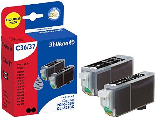 Pelikan C36C37 Druckerpatronen PromoPack (ersetzen Canon PGI-520BK/CLI-521BK) schwarz(pig.) schwarz