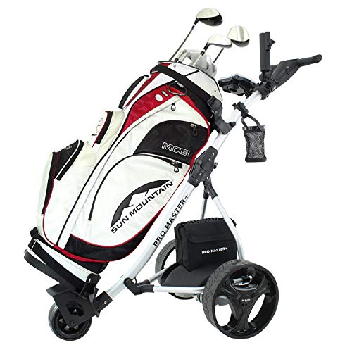 Electric Golf Trolley Digital Folding Cart Lightweight Power 36 Hole Battery
