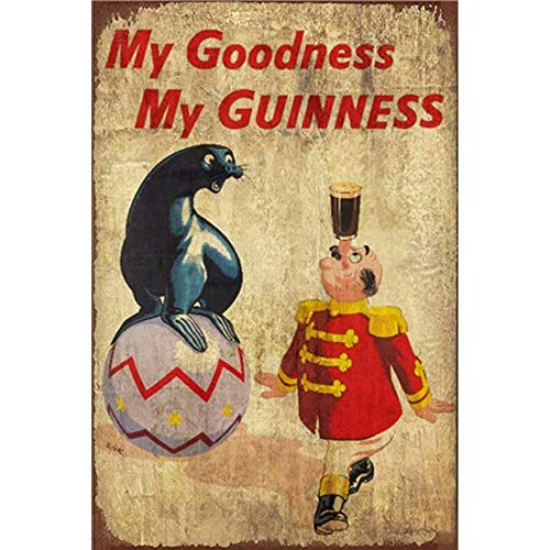 My Goodness My Guinness Metall Blechschild Retro Metall gemalt Kunst Poster Dekoration Plaque Warnung Bar Cafe Garage Party Game Room Hauptdekoration