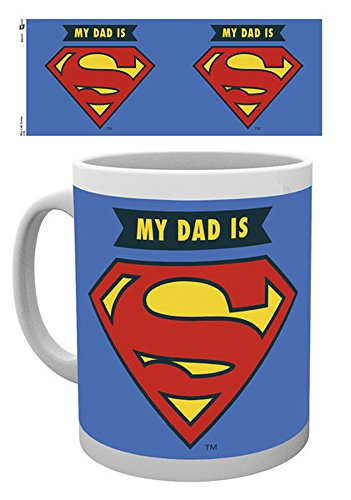 empireposter - DC Comics - My Dad Is Superman - Größe (cm), ca. Ø8,5 H9,5 - Lizenz Tassen, NEU - Beschreibung: - Keramik Tasse, weiß, bedruckt, Fassungsvermögen 320 ml, offiziell lizenziert, spülmaschinen- und mikrowellenfest -