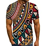 Jinjiums mens Shirts 3D Printed T Shirt for Men Slim Fit Muscle Short Sleeve O Neck Casual Tops Blouse Spring Summer (Style 02, L)