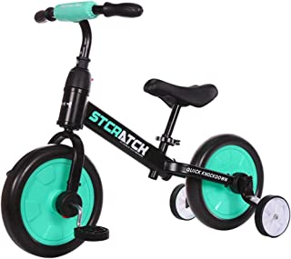 UBRAVOO 4-in-1 Balance Bikes for Kids 1-6T, Toddler Tricycle with Large Wheels, Adjustable Seat, Detachable Training Wheels and Pedals, Easy Assembly, No Tools Required