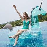 Flotador hinchable Unicornio Transparente con Lentejuelas