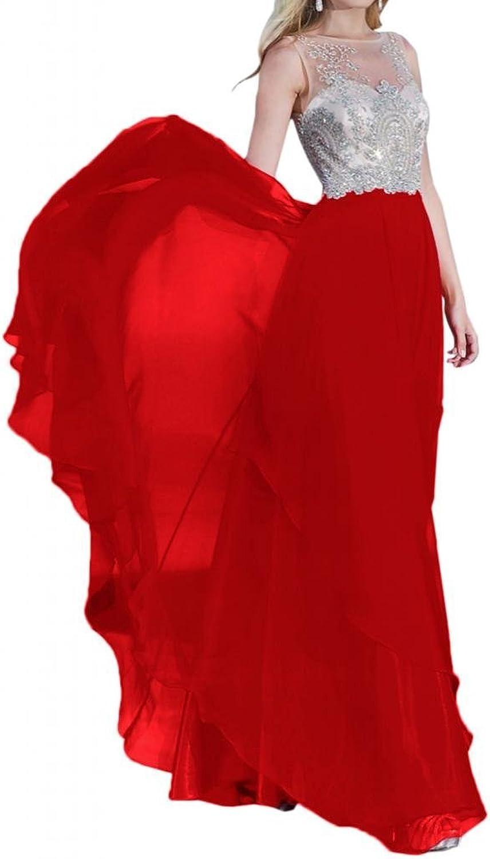 Angel Bride 2015 Column Jewel FloorLength Sleeveless Chffion Prom Gowns