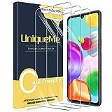 [3 Pack] UniqueMe Compatible con Samsung Galaxy A41 Protector de Pantalla, Vidrio Templado [9H Dureza] HD Film Cristal Templado