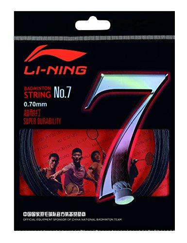 Li Ning Badminton Schläger-Saite No. 7 schwarz