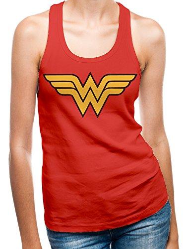 I-D-C CID - Camiseta para Mujer con la Insignia de Wonder Woman, Mujer, PE12168WVCPL, FR : L (Taille Fabricant : L)