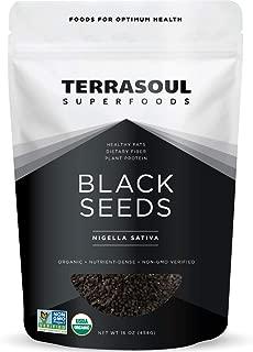Terrasoul Superfoods Organic Black Cumin Seeds (Nigella Sativa), 1 Lb - Digestive Health | Immunity