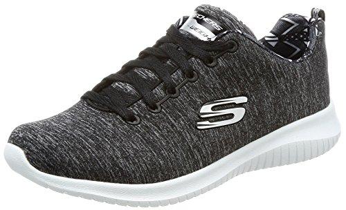 Skechers Skechers Damen 12834 Sneaker, Schwarz (Black/White), 36 EU