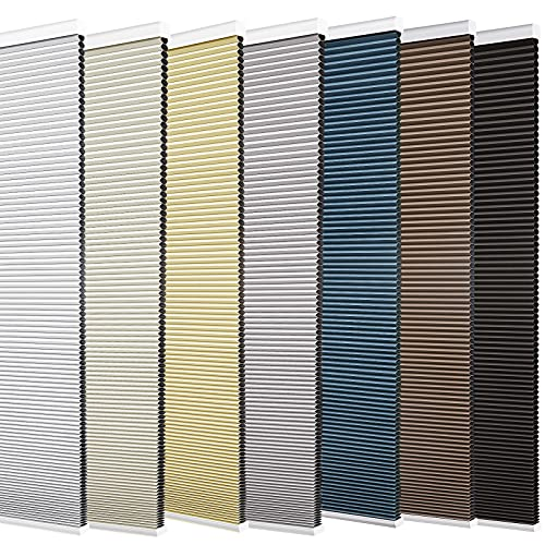 Changshade Size Customized Cellular Shades,Cordless Blackout Honeycomb Shade with The Diameter of 1 Inch Honeycombs for Office,Living...