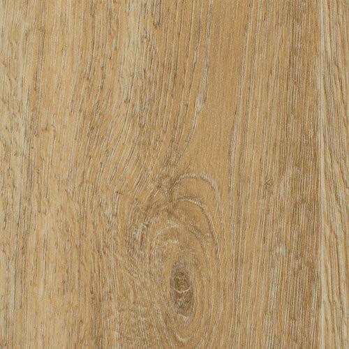 Vinylboden PVC Bodenbelag | Holzoptik Diele Eiche creme hell gekalkt | 200 und 400 cm Breite | Meterware | Variante: 5,5 x 2m
